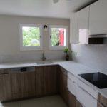 Façades cuisine bois laque blanche – 1