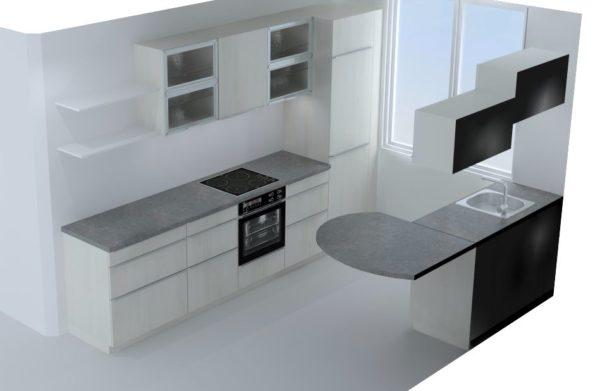 Projet 3D cuisine blanche – 4