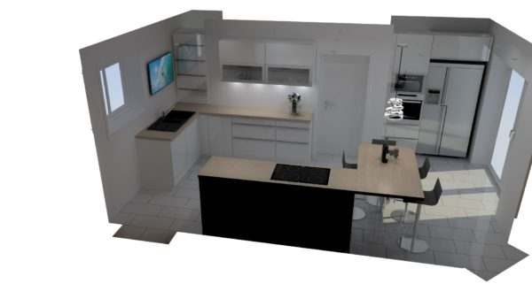 Projet 3D cuisine contemporaine – 6