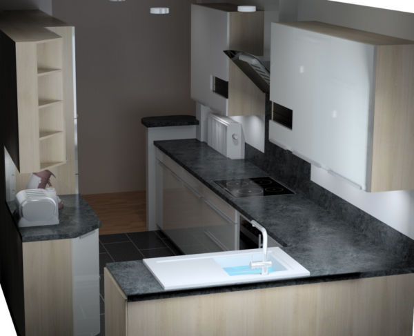 Vue 3D cuisine sur mesure – 18